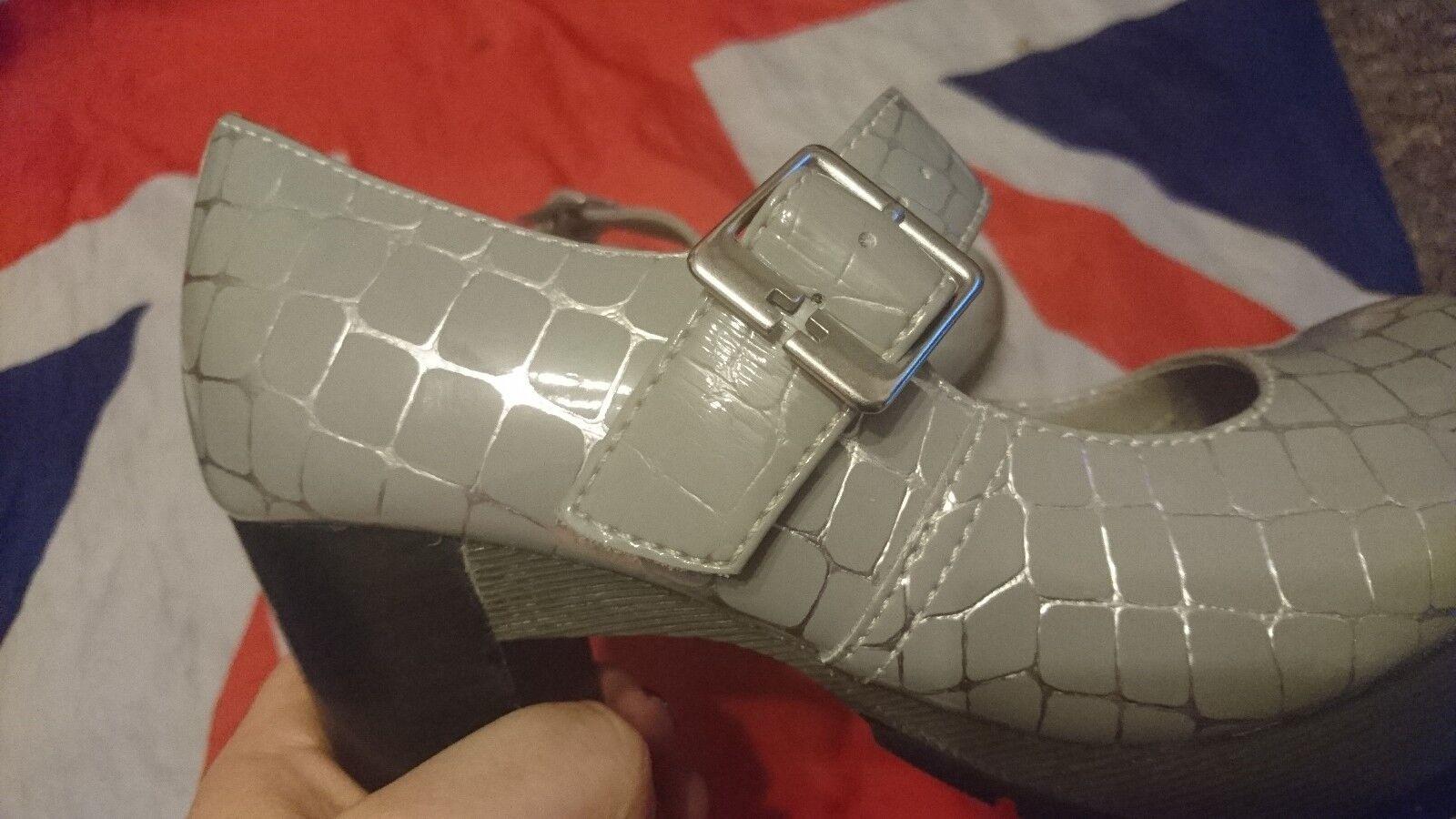 Rare MarlenaSilver Croco Croco MarlenaSilver Doc MartensChunky HeelBridalGothPunkSteampunk3 cf33f2