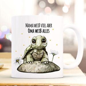 Kindergeschirr & -besteck Tasse Becher Schildkröte Spruch Mama Weiß Viel Oma Alles Kaffeebecher Ts860 In Den Spezifikationen VervollstäNdigen Ernährung