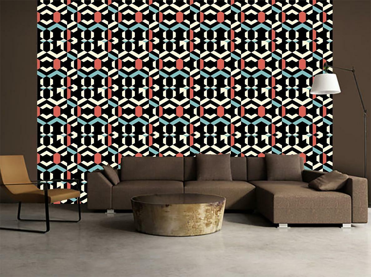 Ethnic Pattern Wallpaper Art Wall Mural Woven Self-Adhesive Modern Decor T46