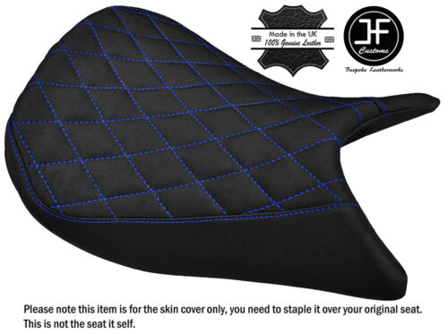 GRIP VINYL DIAMOND BLUE ST CUSTOM FITS SUZUKI GSX-S 1000 15-17 FRONT SEAT COVER