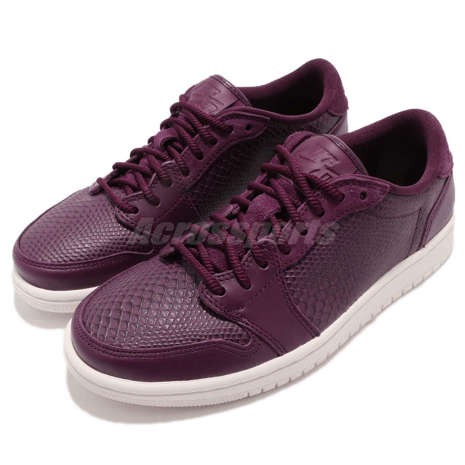 Nike Wmns Air Jordan 1 Retro Low Phantom NS AJ1 Bordeaux Violet Phantom Low femmes AO1935-600 110083