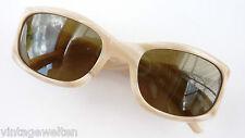 Averbeck helle Acetat Damen Sonnenbrille weiß-beige sehr edel Gläser braun neu