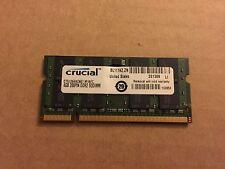 4 GB CRUCIAL LATOP MEMORY CT51264AC667.M16FC, 200-Pin SoDimm