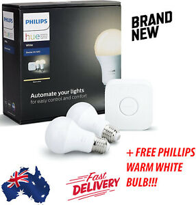 Philips Hue White Starter Kit A60 E27 9W 2700K + additional free phillips bulb