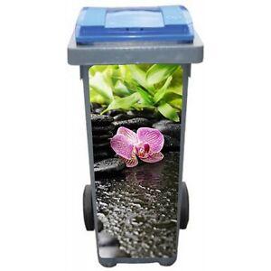 Stickers poubelle déco Orchidée Bambous 3603