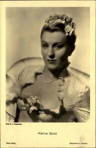 Kaethe-GOLD-Schauspielerin-Portraet-AK-Kino-Buehne-Ross-Verlag-1930-Nr-3372-1