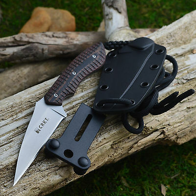 CRKT S.P.E.W. Wharncliffe Fixed Blade Neck Knife G-10 Handle 2388
