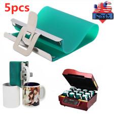 Usa 5pcs 3d Sublimation Silicone Mug Wrap Heat Press 11oz Cup Clamp Fixture