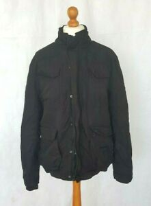 Mens-Black-Coat-Jacket-by-Desigual-Size-L-with-Removable-Fleece-Lining-Sherpa