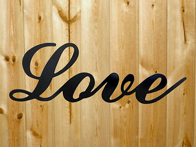 Love Never Fails Words Metal Wall Art Accents  Polished Steel