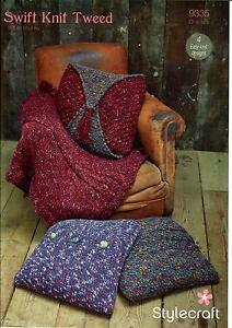 20f8229ef Image is loading Stylecraft-9335-Knitting-Pattern-Cushion-Covers-and-Throw-