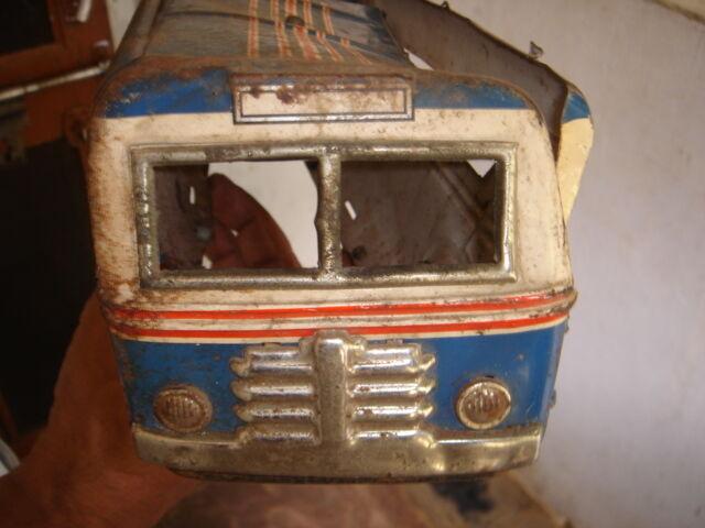 India-Juguete De Hojalata Hecha En Japón-Sonicon Bus-tamaño 14.1 2  X 3.3 4