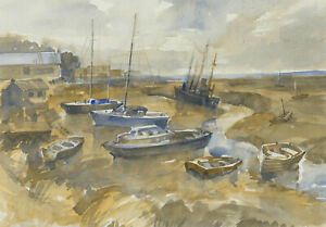 Clifford H. Thompson (1926-2017) - 20th Century Watercolour, Low Tide