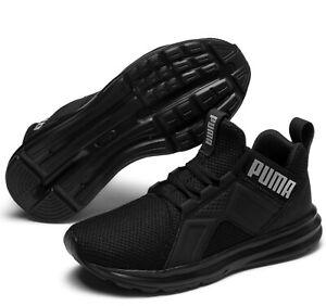 PUMA-ENZO-WEAVE-JR-scarpe-donna-ragazzo-uomo-alte-sneakers-mid-running-nero