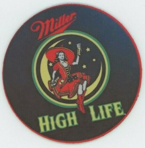 Bier Cerveza Miller High Life Champagne of Beer COASTER Girl in Moon