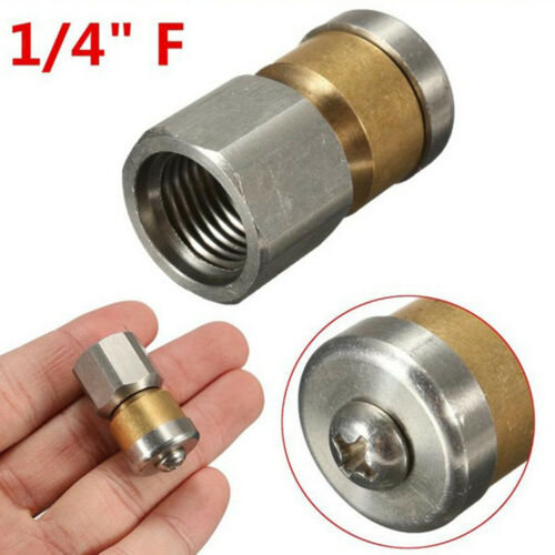 """1//4/"""" inch Sewer Jetter Nozzle Rotating Drain Cleaning Pressure Washer Parts"""