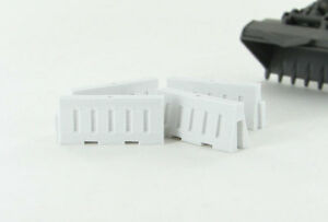 1:50 WHITE PLASTIC SAFETY BARRIER PLASTIC 3D TO SCALE TOY DIORAMA ACCESSORY