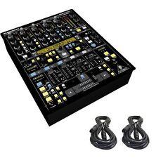 Behringer DDM4000 32-bit 4-Channel Digital Professional DJ Mixer & 2 XLR Cables
