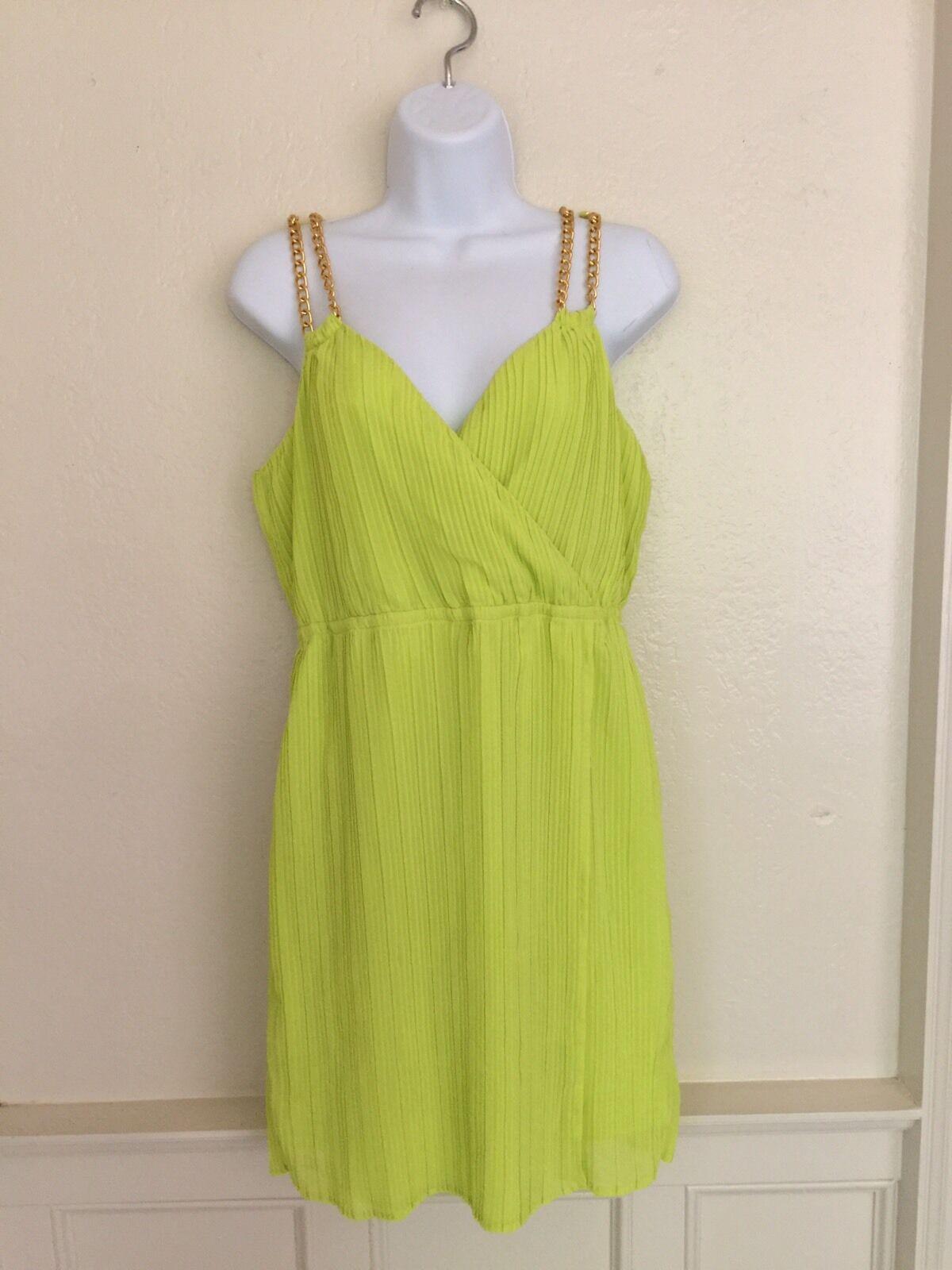 Thalia Sodi Chain- strap Pleated Surplice Dress Size M