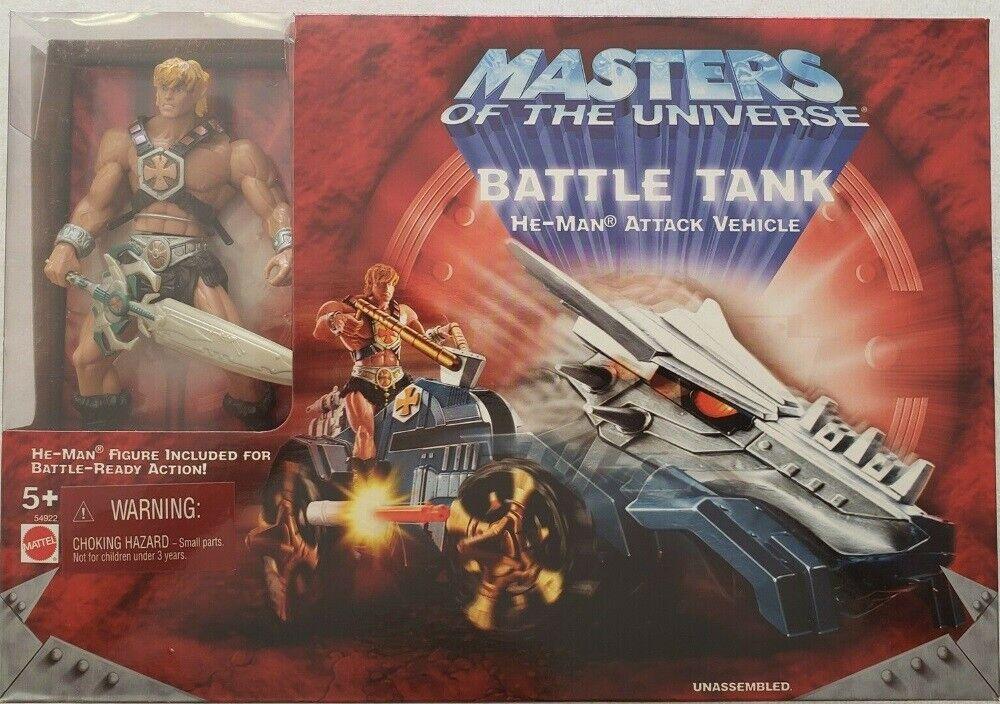 Masters of the Universe 200X  He-Man avec fer Croix de Malte Battle Véhicule-Citerne  80% de réduction