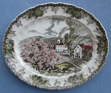 "Johnson Bros Friendly Village 12"" Village Green Oval Platter Made in England"