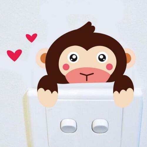 Cute Animal Light Switch Sticker Boy Girl Nursery Decor Baby Room Wall Decal