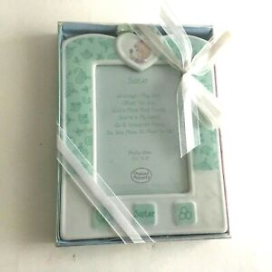 Precious-Moments-2003-Sister-Ceramic-Picture-Frame-Pix-3-5X5-034-New-in-Wrap