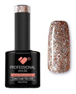 YBJ-008-VB-Line-Hot-Platinum-Rose-Gold-Glitter-UV-LED-soak-off-gel-nail-polish