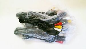 10-NEW-Stereo-AV-Cables-LOT-Video-Cord-for-PS1-PS2-PS3