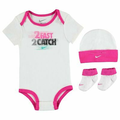 Set 3 Pezzi Body Suits Infant Baby Neonata Converse All Star 0-6 mesi Bambina