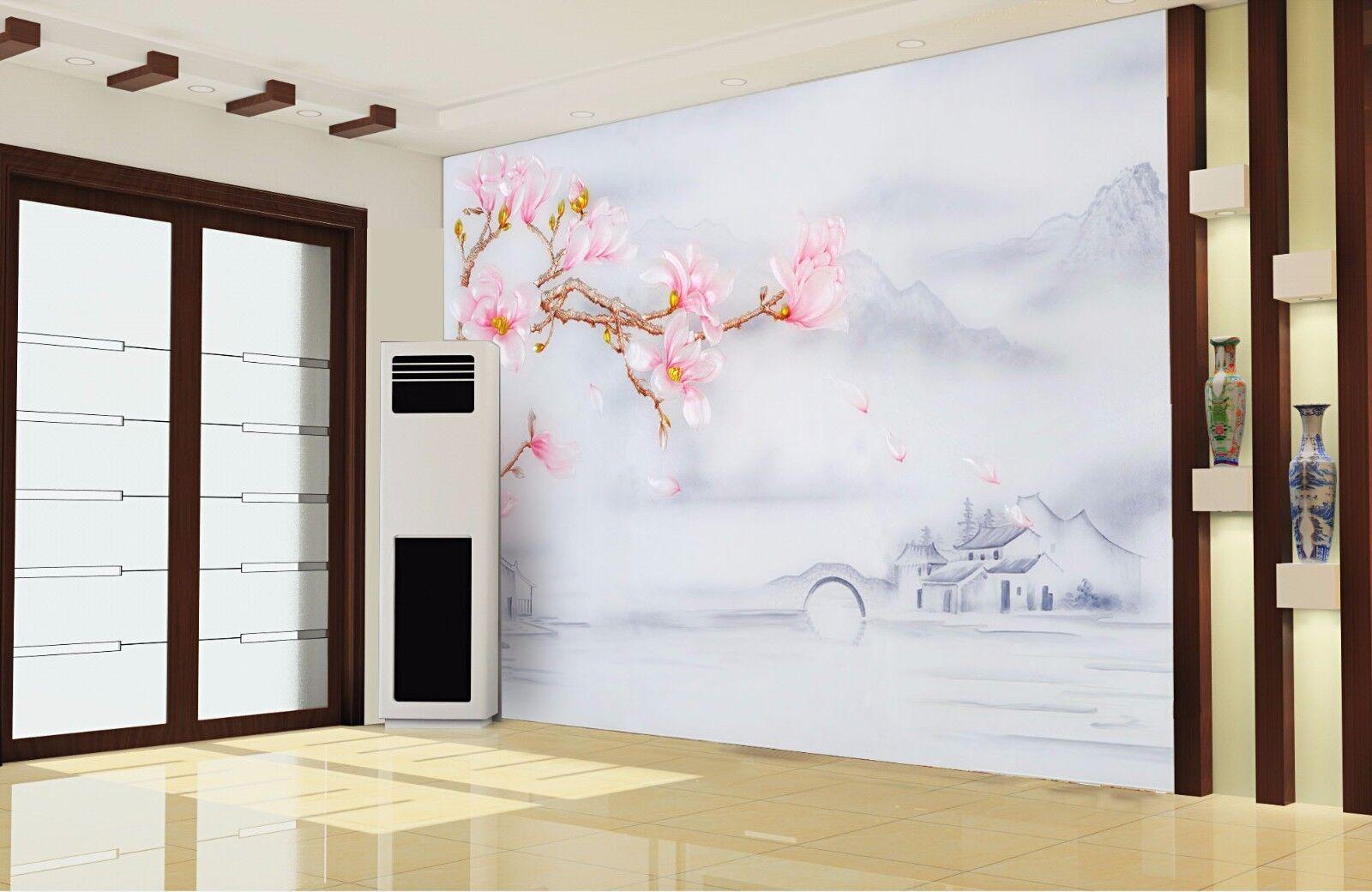 3D Wasserdorf Landschaft 73 Tapete Wandgemälde Tapete Tapeten Bild Familie DE | Treten Sie ein in die Welt der Spielzeuge und finden Sie eine Quelle des Glücks  | Online  | Primäre Qualität