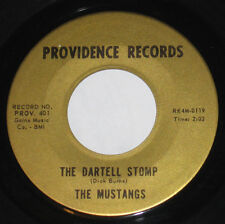 """The Mustangs 7"""" 45 HEAR ROCK N ROLL Dartell Stomp PROVIDENCE GOLD Lazy Love"""