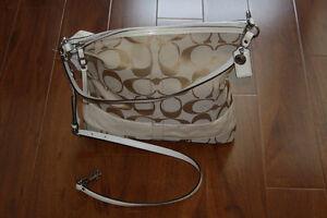 NWT Coach Sig Stripe PA Convertible Shoulder Bag F18797
