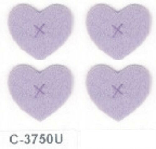 "5//8/"" x 3//4/"" Purple Felt Heart Embroidery Applique Patch"