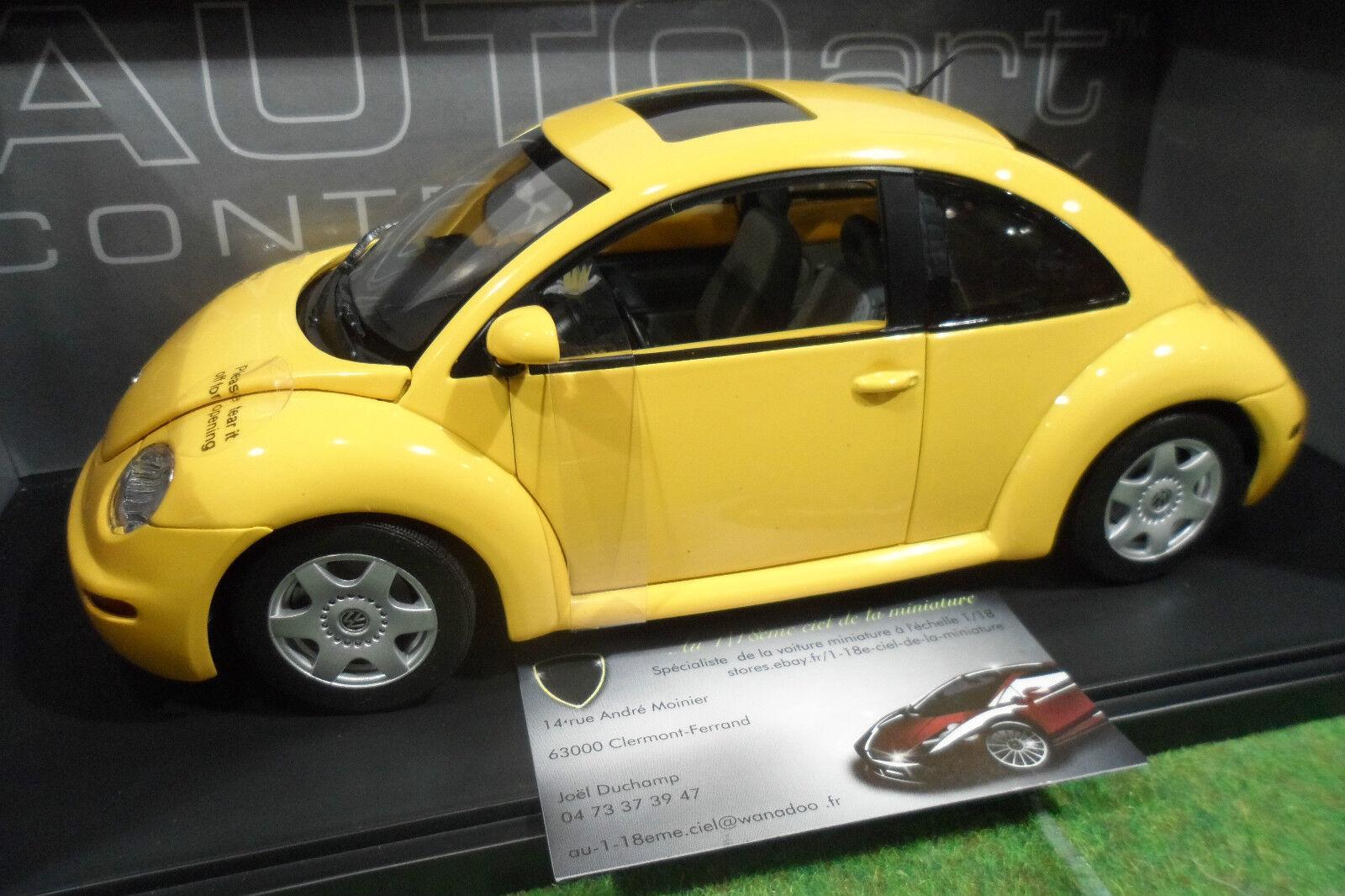 VOLKSWAGEN NEW BEETLE giallo 1 18 AUTOart Contemporary 79731 voiture miniature