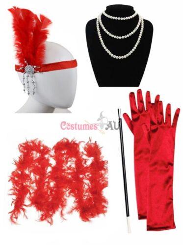 1920s Charleston Ladies 20s Gatsby Burlesque Flapper Costume Accessory Set