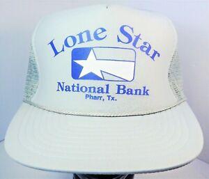 Details about Vintage LONE STAR NATIONAL BANK PHARR TEXAS Gray Snapback Trucker  Hat NISSIN Cap fa6e42ae12e