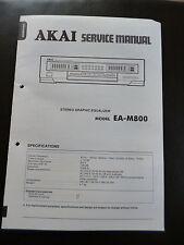 Original Service Manual Akai estéreo Graphic ecualizador ea-m800