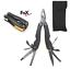 Carbon-Multitool-9-tlg-Zange-Taschenmesser-Camping-Outdoor-Werkzeugset-Werkzeug Indexbild 1
