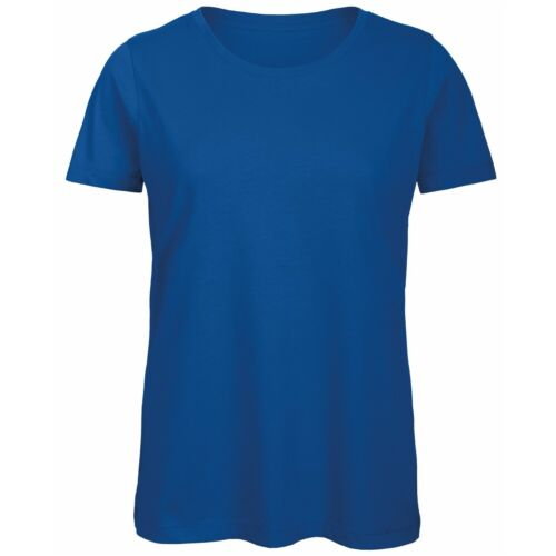 Womens Organic Ringspun Combed Cotton Plain Blank Tee Shirt Tshirt T-Shirt Top