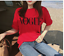 Fashion-girl-short-sleeve-tops-clothes-for-women-Vogue-letter-printed-T-shirt-fo thumbnail 5
