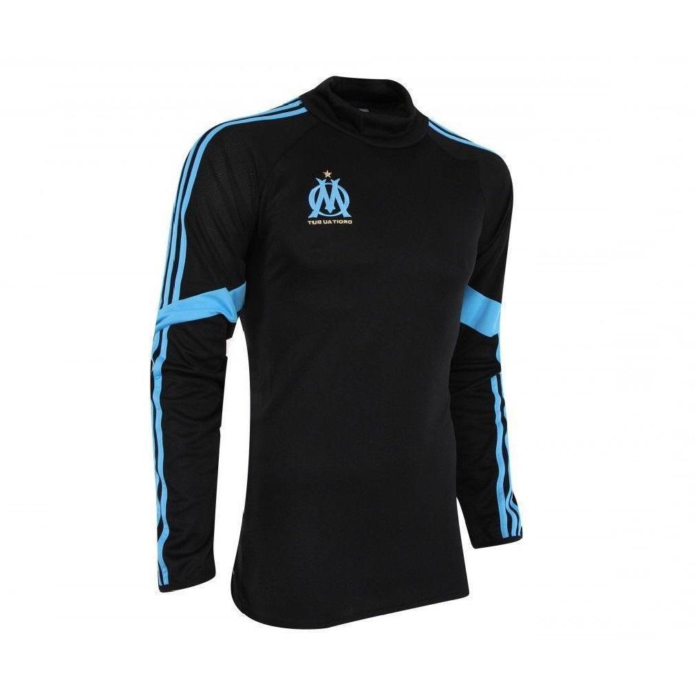 Mens Adidas Olympique De Marseille Long Sleeve Top Jersey 2014 15 F83962