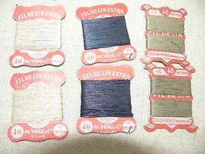 6 X15 M Fil De Lin 3 Couleurs Linen Thread 6 X 16 Yards 8vq6msjy-07214133-630829914