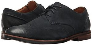 Image is loading Clarks-Men-039-s-Broyd-Wing-Oxford-Navy-