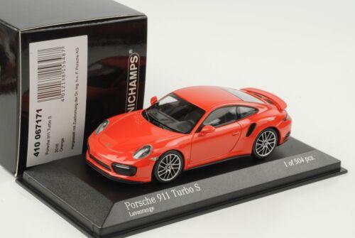 2017 Porsche 911 991 II Turbo S lavaorange 1:43 Minichamps