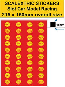 Slot car Scalextric stickers Model track  Logo dub Lego self adhesive vinyl 16