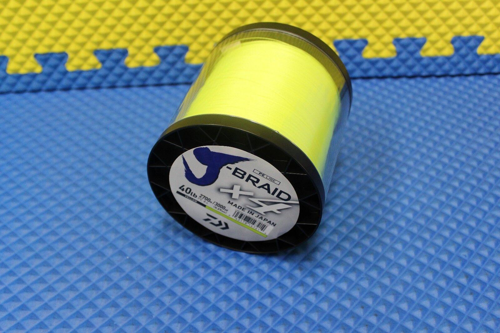Daiwa J-Braid X4U 40-2700Y Fluorescent Yellow 40lb 3000yd 4000-2070