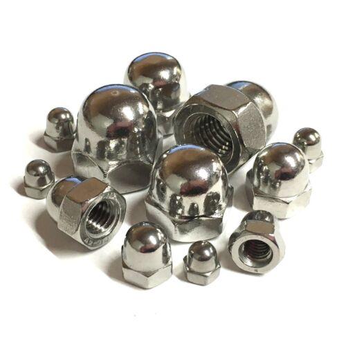 3mm 4mm 5mm 6mm 8mm 10mm 12mm 16mm A2 Stainless Steel Dome Nuts Metric DIN1587