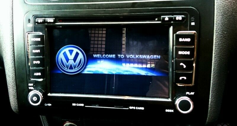 VW 7 INCH BLUETOOTH DVD-NAVIGATION UNIT