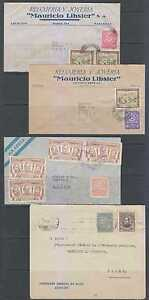 PARAGUAY 1936-56 GROUP OF THREE AIR & A SURFACE COVER TO SWITZERLAND VF